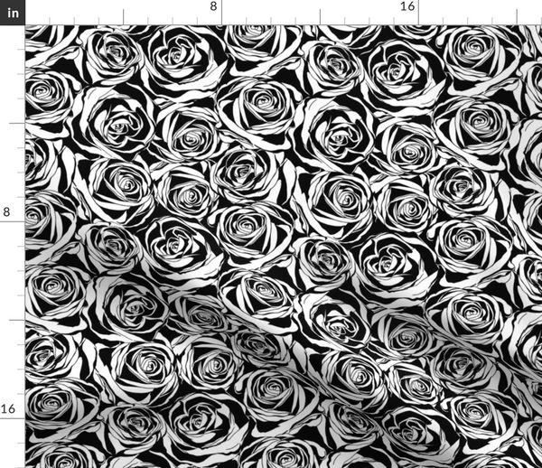 Fabric By The Yard Abstract Rose Patern