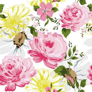 Cute pink roses pattern.