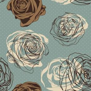 Retro rose pattern