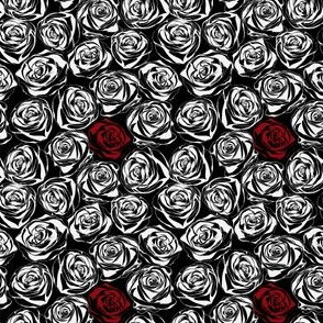 Abstract black rose pattern