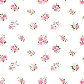 Cute pink roses pattern