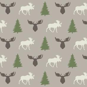 spruce and moose ©2014 Jill Bull