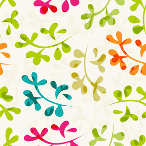 Abstract cute leaves pattern
