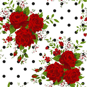 Red rose patern