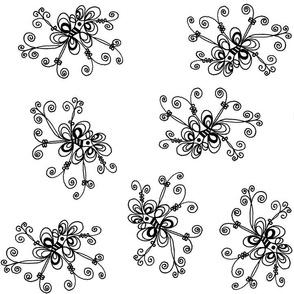 Black and White Flower  | Zen Doodle |
