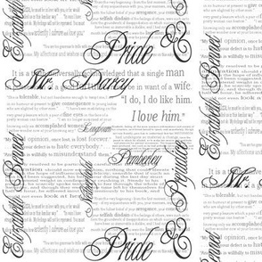 Pride & Prejudice Text (in White)