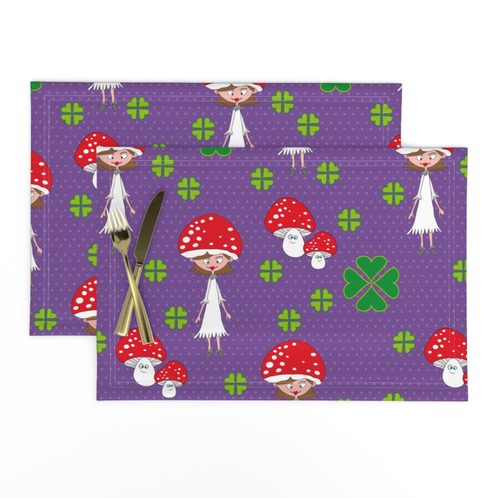 Lamona Cloth Placemats featuring pliegenfilz by mymaki