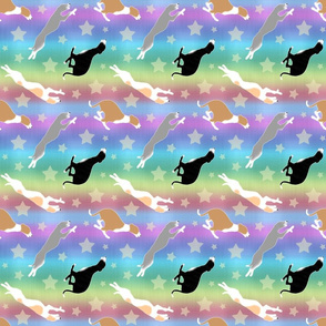 Dashing Whippets and rainbows