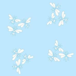 Flower Bees, Blue