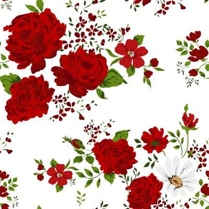 Red roses pattern