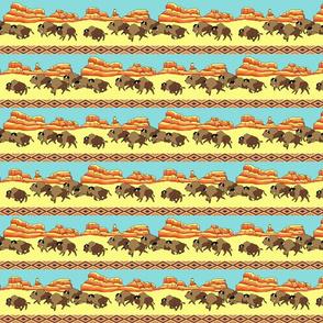 Southwestern Buffalo Stripe Small Scale