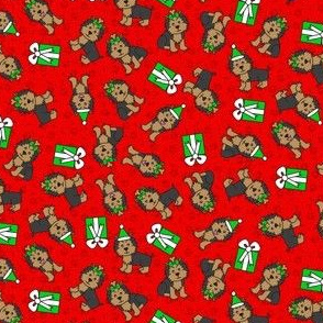 Merry Yorkies (Red Small)