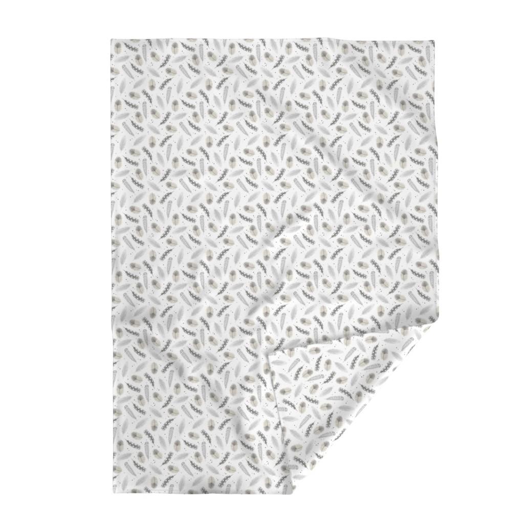 Lakenvelder Throw Blanket featuring Feathers - neutral by innamoreva
