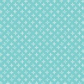 Floret - White and Turquoise