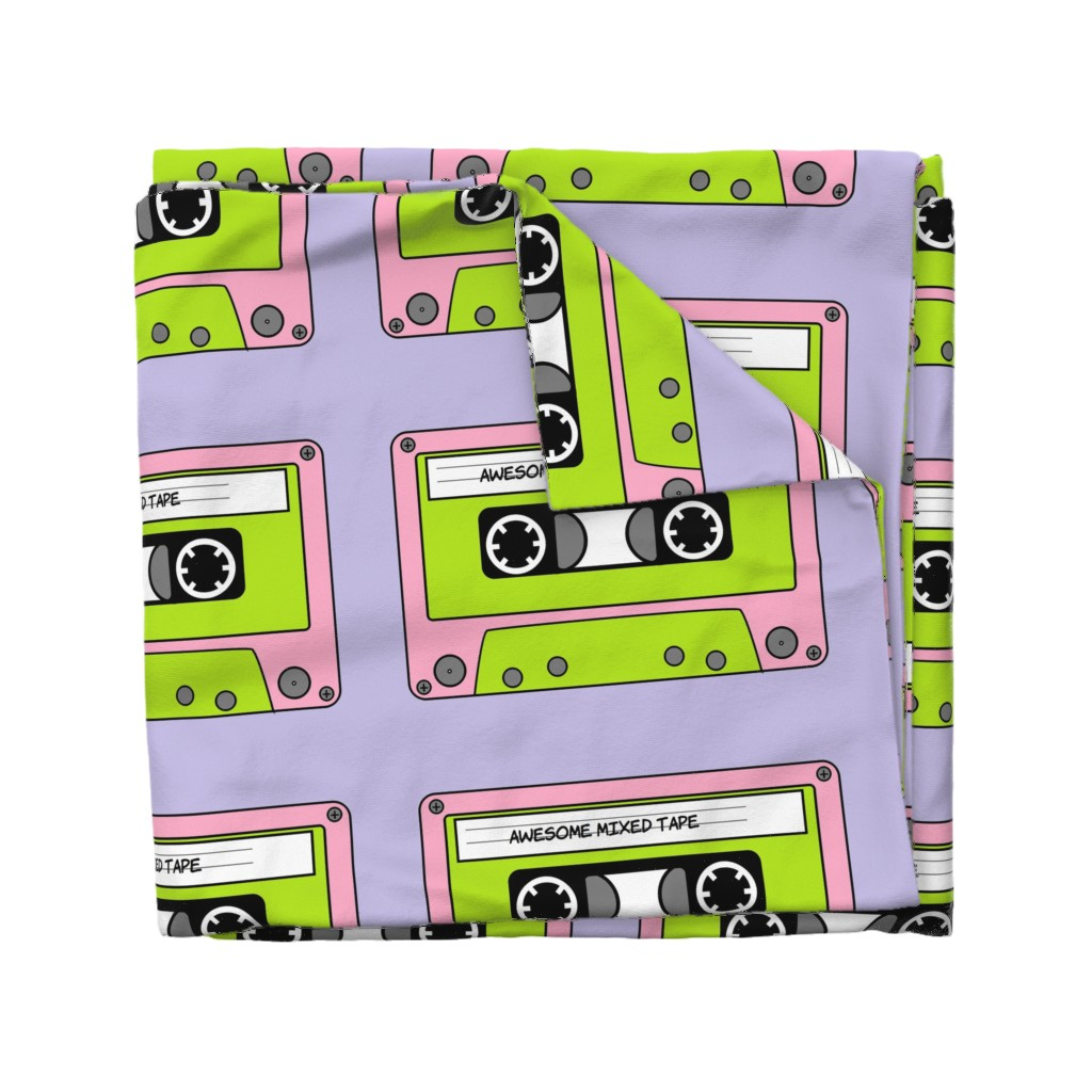 Wyandotte Duvet Cover featuring Awesome_Mixed_Tape_Pink by greatfulthread