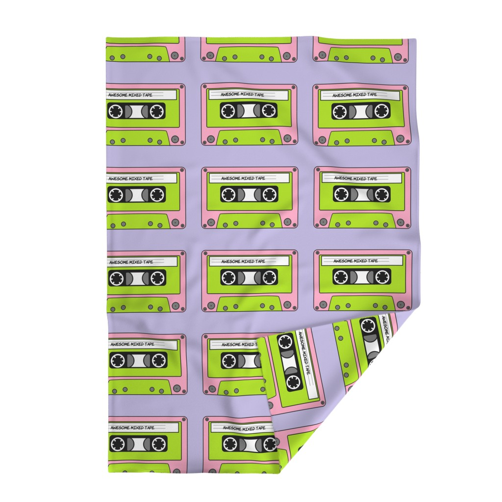 Lakenvelder Throw Blanket featuring Awesome_Mixed_Tape_Pink by greatfulthread