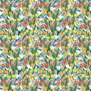 Garden of Tulips - Yellow, Orange, Red