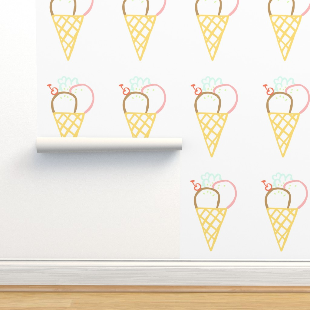 Isobar Durable Wallpaper featuring Ice_Cream_Cone_2 by greatfulthread