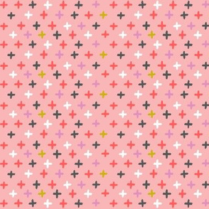 chalky cross - pink