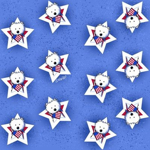 KiniArt US Star Speckled Westies