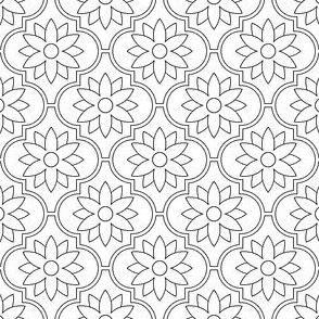 04048470 : crombus flower : outline
