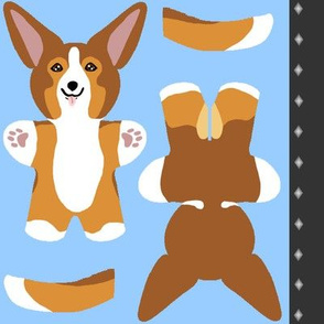 Kawaii Corgi mini plushie - sable