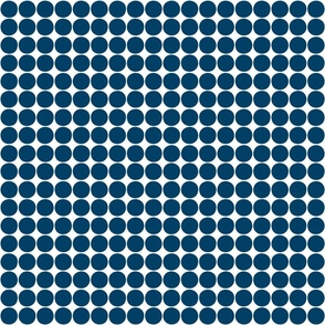 dots navy blue