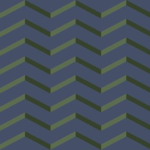 green chevron on blue | pencilmeinstationery.com