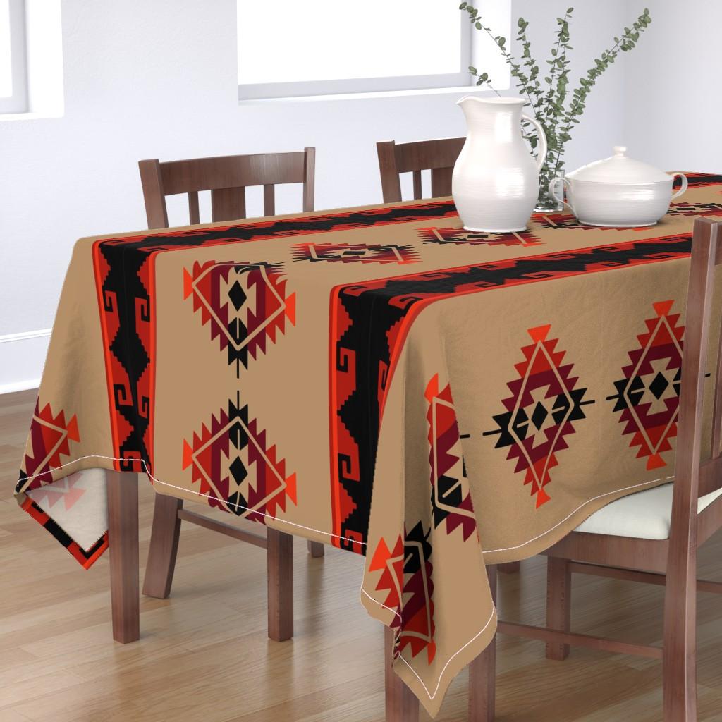 Bantam Rectangular Tablecloth featuring daryl poncho by aspie_giraffe