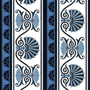 Classic Scalloped Shells ~ Lonely Angel Blue and White