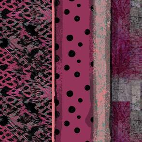 Raspberry Stripe Leopard