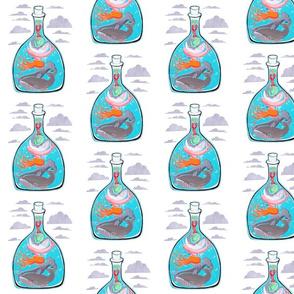 Ocean Creatures in a Bottled Sea