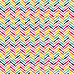 live free : love life herringbone LARGE rainbow
