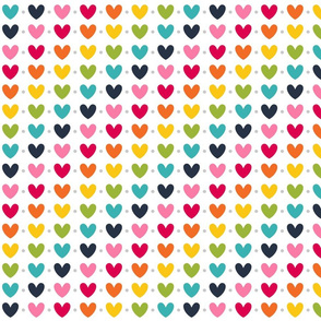 live free : love life hearts LARGE rainbow