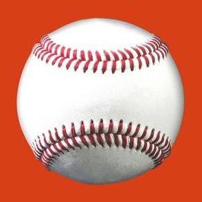 "5"" baseballs on orange"