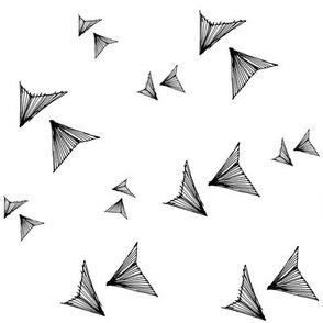 geo birds black on white