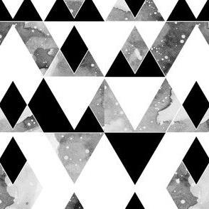 geo mountains black on white