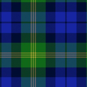 Ancient Gordon tartan, modern colors, 6""
