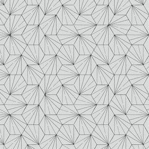 hexagon small black on grey ss16
