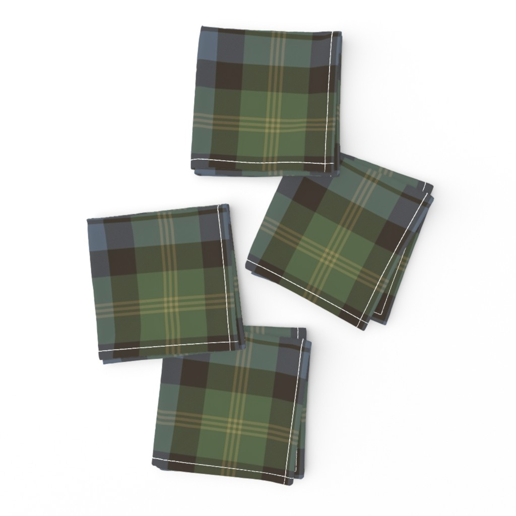 Frizzle Cocktail Napkins featuring Ancient Gordon tartan, traditional colors by weavingmajor