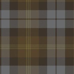 "Ancient Gordon tartan, 6"" weathered colors"