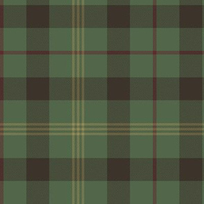 "Paton family tartan, 6"", traditional colors"