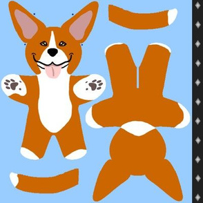 Kawaii American Pitbull Terrier mini plushie - red white