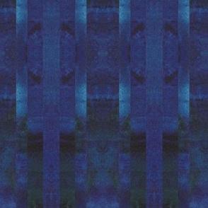 Watercolors Dark Blue Linear Kaleidoscope