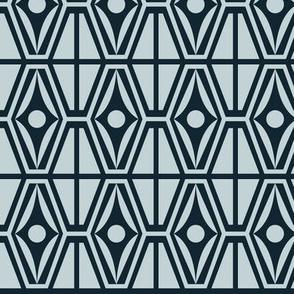 Metro Retro - Midcentury Modern Geometric Blue