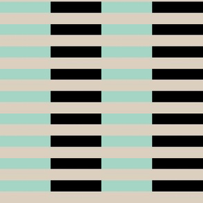 brown black mint stripes