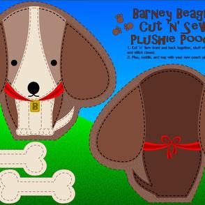 Barney Beagle Cut N Sew Set