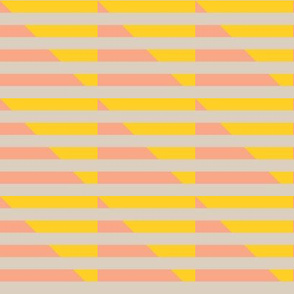 tan yellow peach stripes triangle | pencilmeinstationery.com