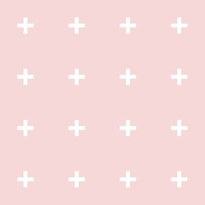 white cross pale pink
