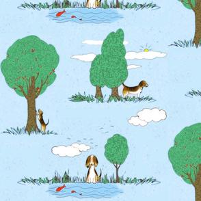 Beagle toile